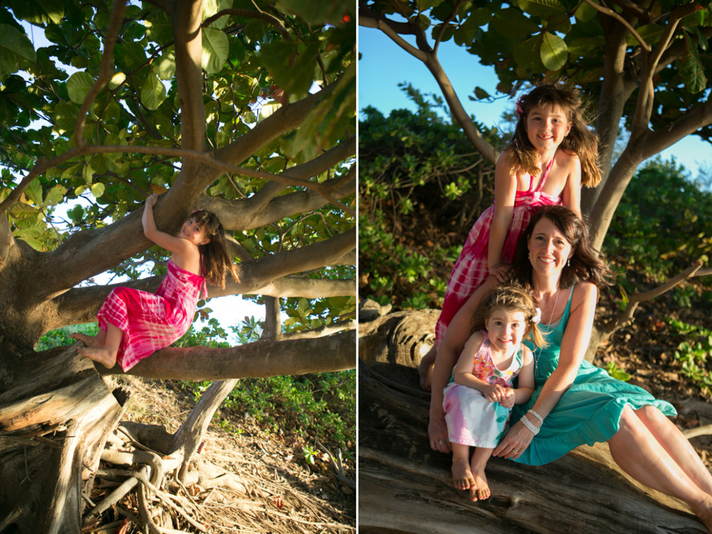 wailea family photos, mom with her daughters